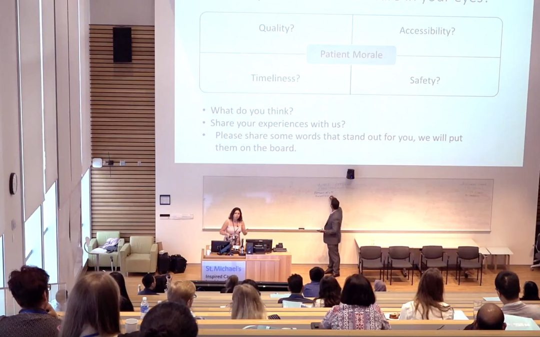 Full Keynote Speech in The University of Toronto Institute for Healthcare Improvement